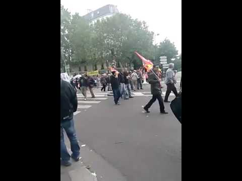 Manifestation paris boulevard montparnasse port royal