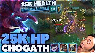 BIGGEST SIZED CHO'GATH EVER | 3K DAMAGE ULTIMATE | 25K HP CHO'GATH - BunnyFuFuu