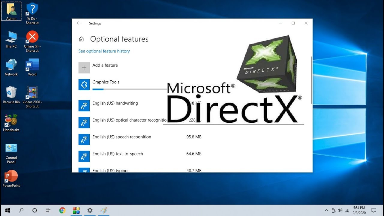 How to Install Latest DirectX Graphic Tool in Windows 10 (Easy)