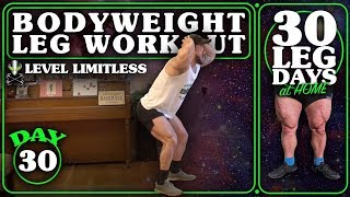 Bodyweight Leg Workout At Home | 30 Days of Leg Day At Home Without Equipment Day 30