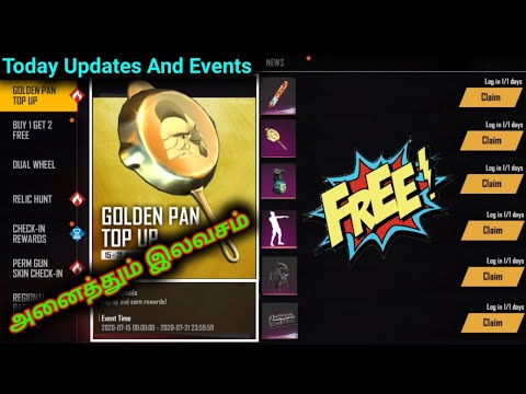 Today Updates And Events On Free Fire Full Details//Free Gloo Wall Skin//Free Top Up Event Pan Skin from YouTube · Duration:  15 minutes 26 seconds