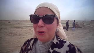 New Suez Canal, Egypt: Manal Eldamaty Prime women  htanks President and workers on the canal