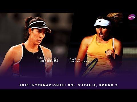 Garbiñe Muguruza vs. Daria Gavrilova | 2018 Internazionali BNL d'Italia Second Round