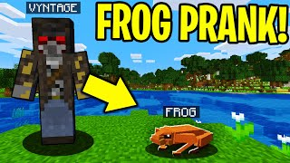 TROLLING AS A FROG IN MINECRAFT!