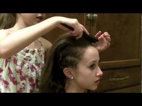 Party Hairstyle (cornrows, poof, braid wrapped bun) thumbnail