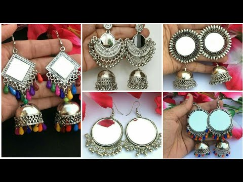 Best design for girl's mirror jhumka earing    beautiful & most stylish collection for girl's