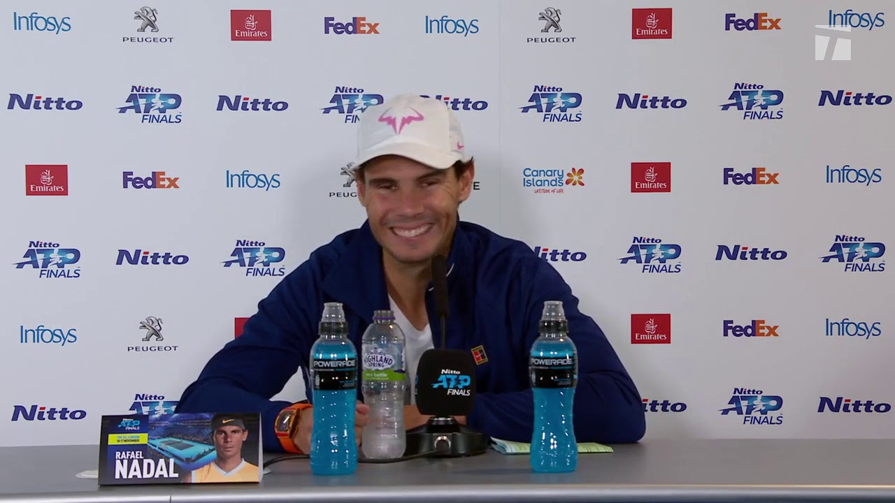 Rafael Nadal Press conference after his match against Medvedev / ATP Finals  2019 - YouTube