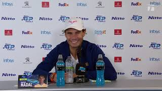 Rafael Nadal Press conference after his match against Medvedev / ATP Finals 2019