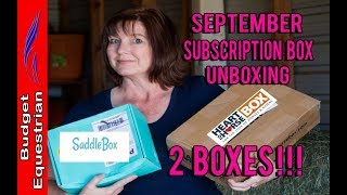 HUGE Unboxing of Heart To Horse AND Saddle Box Subscription Boxes thumbnail