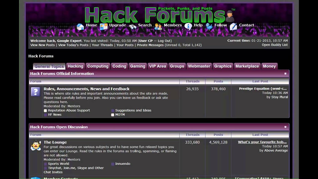 1000th post video | Google Expert | www hackforums net