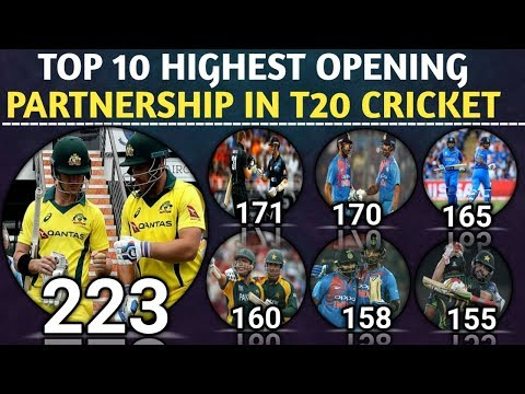 Top 10 Highest Opening Partnership In T20 Cricket History | Highest Opening Stand in T20 Cricket