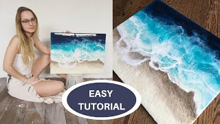 Ocean Epoxy Resin Tutorial - Step by Step Voiceover