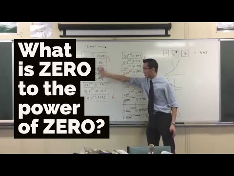 What is 0 to the power of 0?
