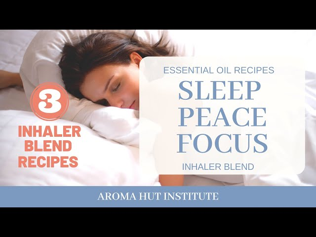 Inhaler Blends With Essential Oils for Sleep and Mental Health