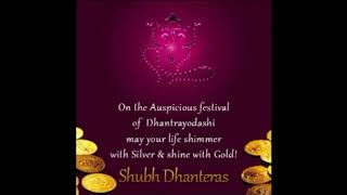 Happy Dhanteras Wishes,Greetings,Sms,Sayings,Quotes,E-card,Wallpapers, Whatsapp video