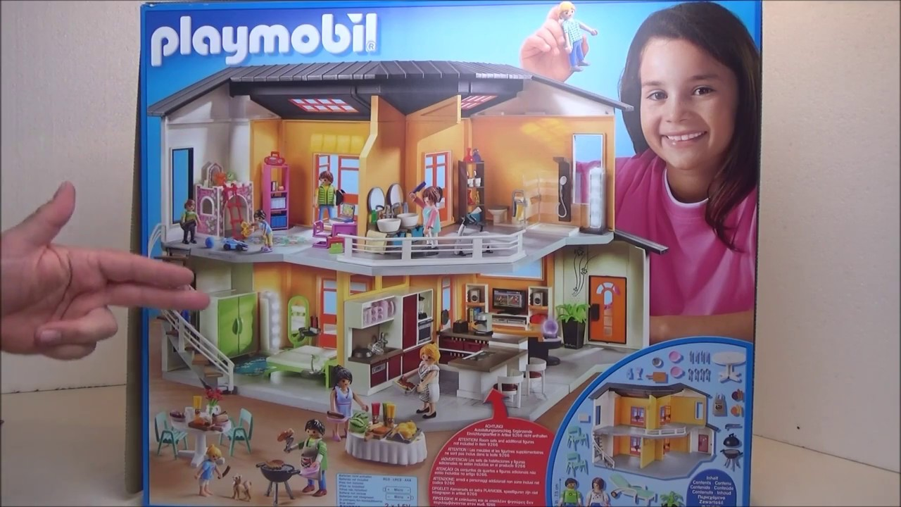 Playmobil 9266 unboxing modernes wohnhaus youtube for Playmobil modernes haus 9266