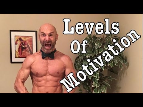 Levels of Fitness Motivation, extrinsic, intrinsic and flow. weight loss, build muscle, fitness