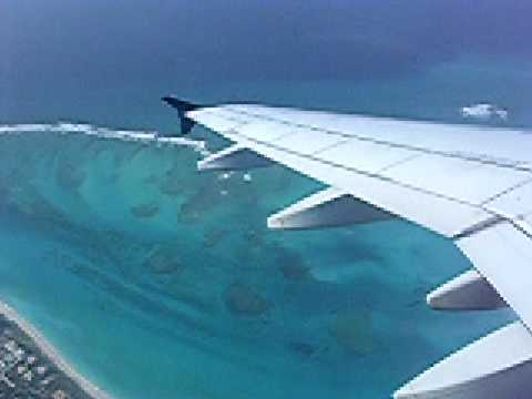 US Airways Airbus A320 Climbing Out of Providenciales Turks and Caicos