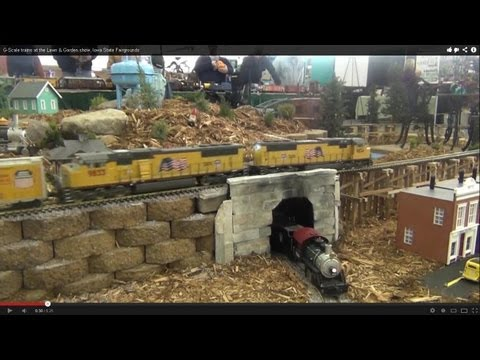 G-Scale Trains At The Lawn & Garden Show, Iowa State Fairgrounds
