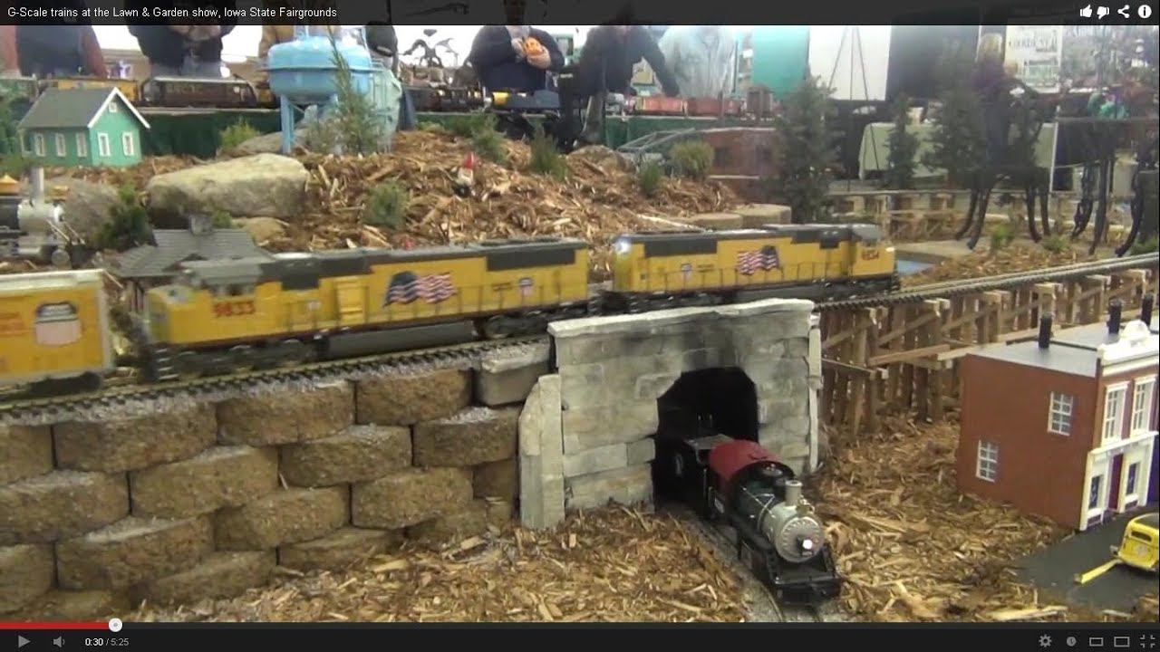 G Scale Trains At The Lawn Garden Show Iowa State