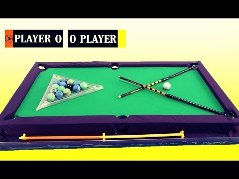 How To Make Mini Pool Game From Cardboard & Gameplay  - DIY 2018