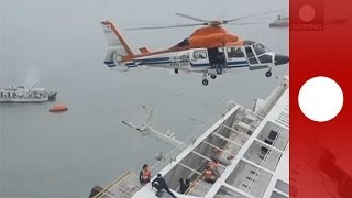 South Korea ferry disaster: Video of rescue operation, hundreds missing after ship sinks