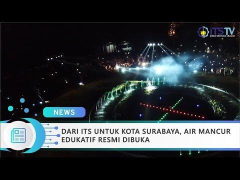 Dari ITS Untuk Kota Surabaya, Air Mancur Edukatif Resmi Dibuka