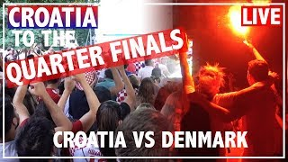 CROATIA FANS REACTION + EPIC CELEBRATION AFTER WIN against DENMARK | WORLD CUP 2018 LIVE in CROATIA