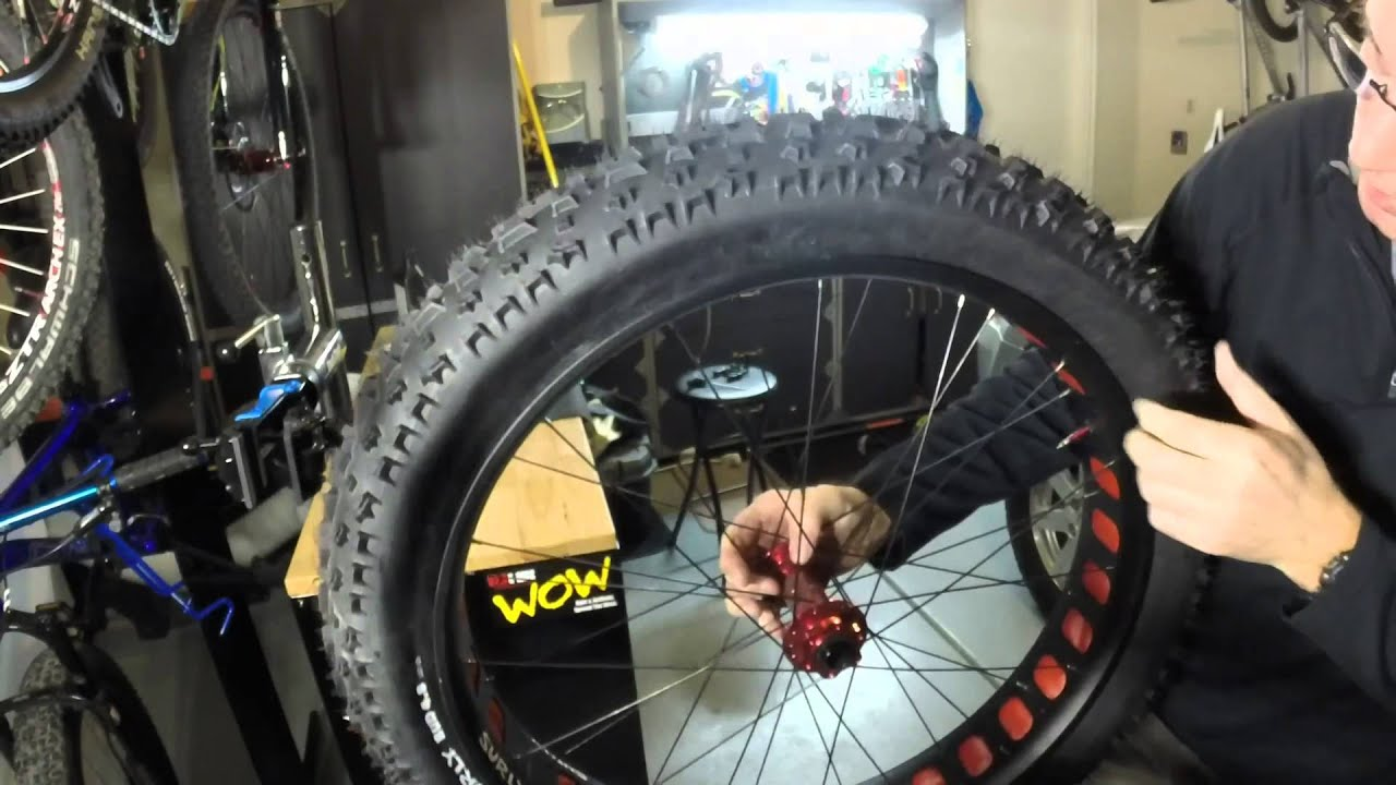 Fat Bike Tubeless Setup With Surly Rim And Tire Youtube