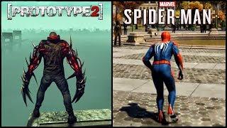 PROTOTYPE 2 ПРОТИВ SPIDER-MAN PS4 - ТОТАЛЬНОЕ СРАВНЕНИЕ [PROTOTYPE 2 vs ЧЕЛОВЕК-ПАУК]