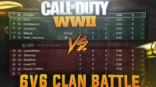 """(COD WW2) PLAYING AGAINST 6 MAN SUPER HIGH K.D PLAYERS IN """"CALL OF DUTY WW2"""""""