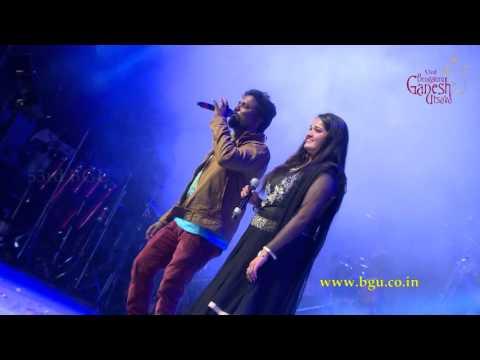 """Vone Vone"" song by Santosh Venky Anuradha Bhat @ 53rd Bengaluru Ganesh Utsava..!!!"