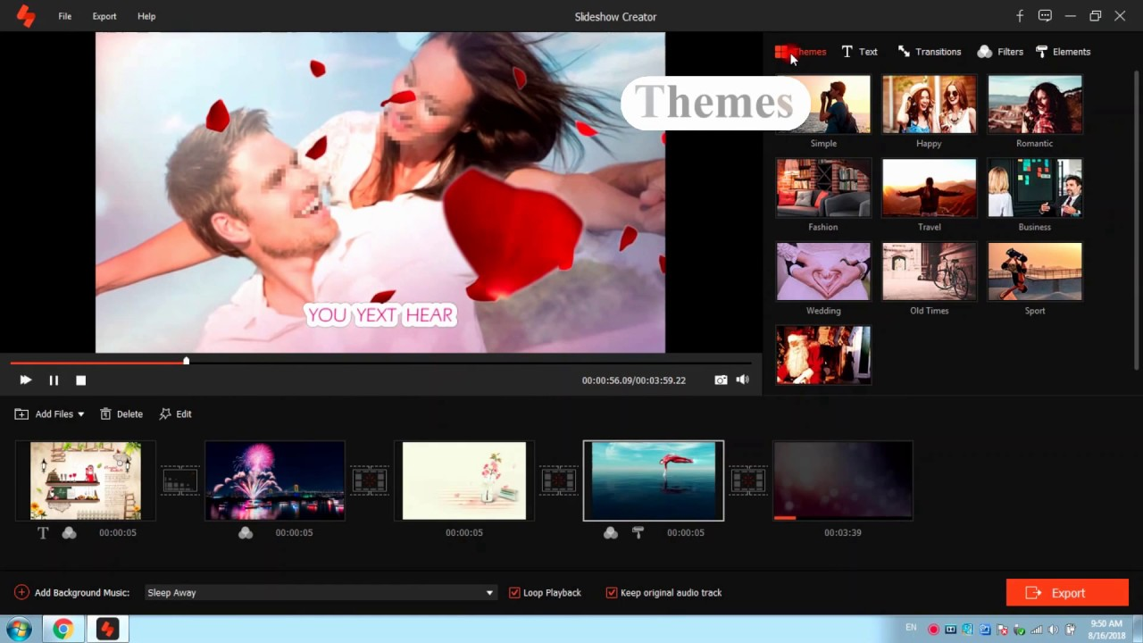 free online video slideshow maker with music