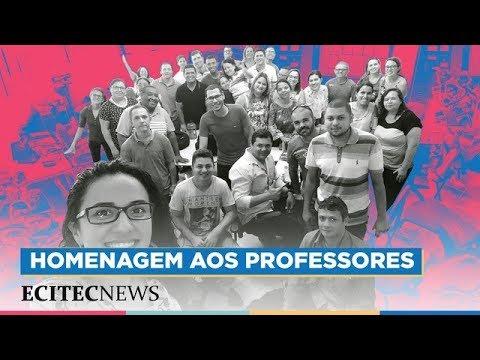 Homenagem aos professores da ECIT Enéas Carvalho