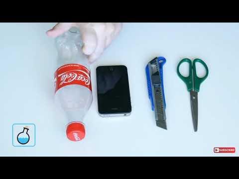 Как сделать 3D голограмму из бутылки