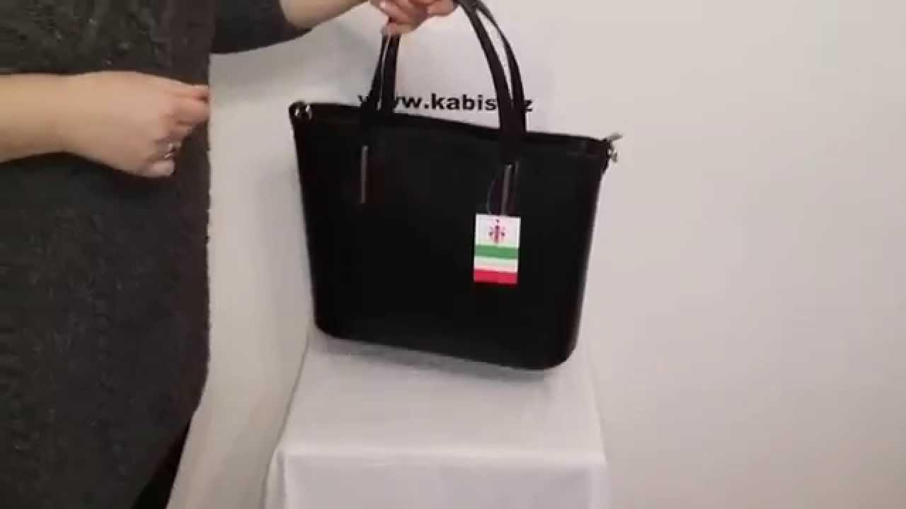 58f12ee561 Italká kožená kabelka Vera Pelle II černá - YouTube