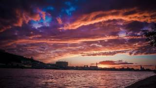Таймлапс природа, закат Киев | Time lapse video Kyiv
