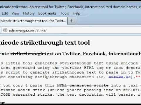 ★ Paltalk  Strikethrough (Status Message)