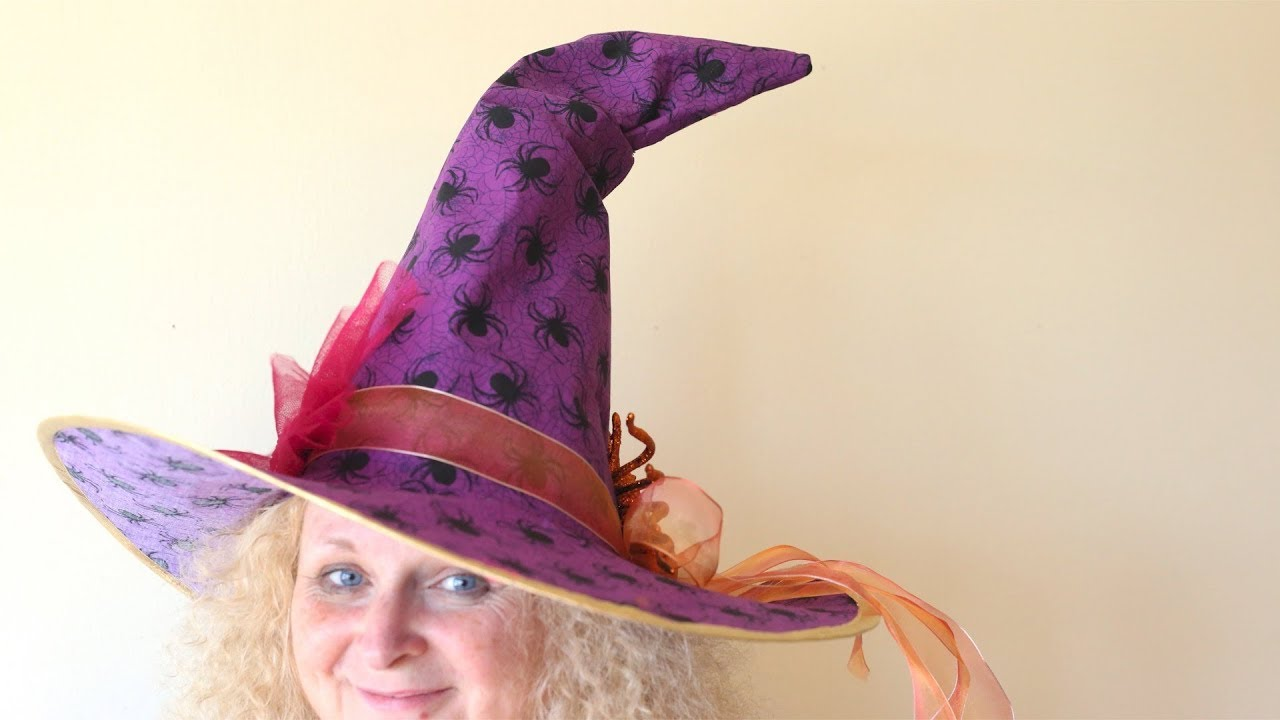 How To Make A Custom Witch Hat Halloween Costume Idea Youtube