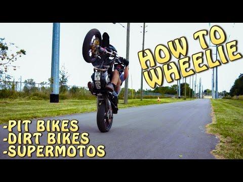 HOW TO WHEELIE A SUPERMOTO!!
