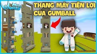 Mini World : Block Art*THỬ THÁCH XÂY THANG MÁY TIỆN LỢI CỦA GUMBALL*GUMBALL MINI WORLD