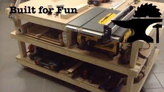 Un établi pour ma scie sur table! / Table Saw Station