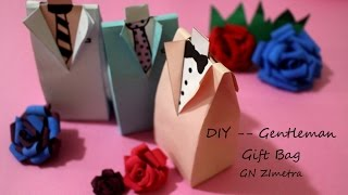 DIY| Gentlemen gift bag for Wedding/ Valentine's Day/ Father's Day @GN Zimetra