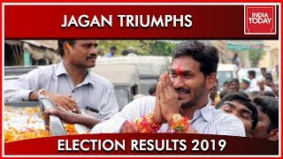 Jagan Mohan Reddy's Supporters Begins Celebrations| Results2019
