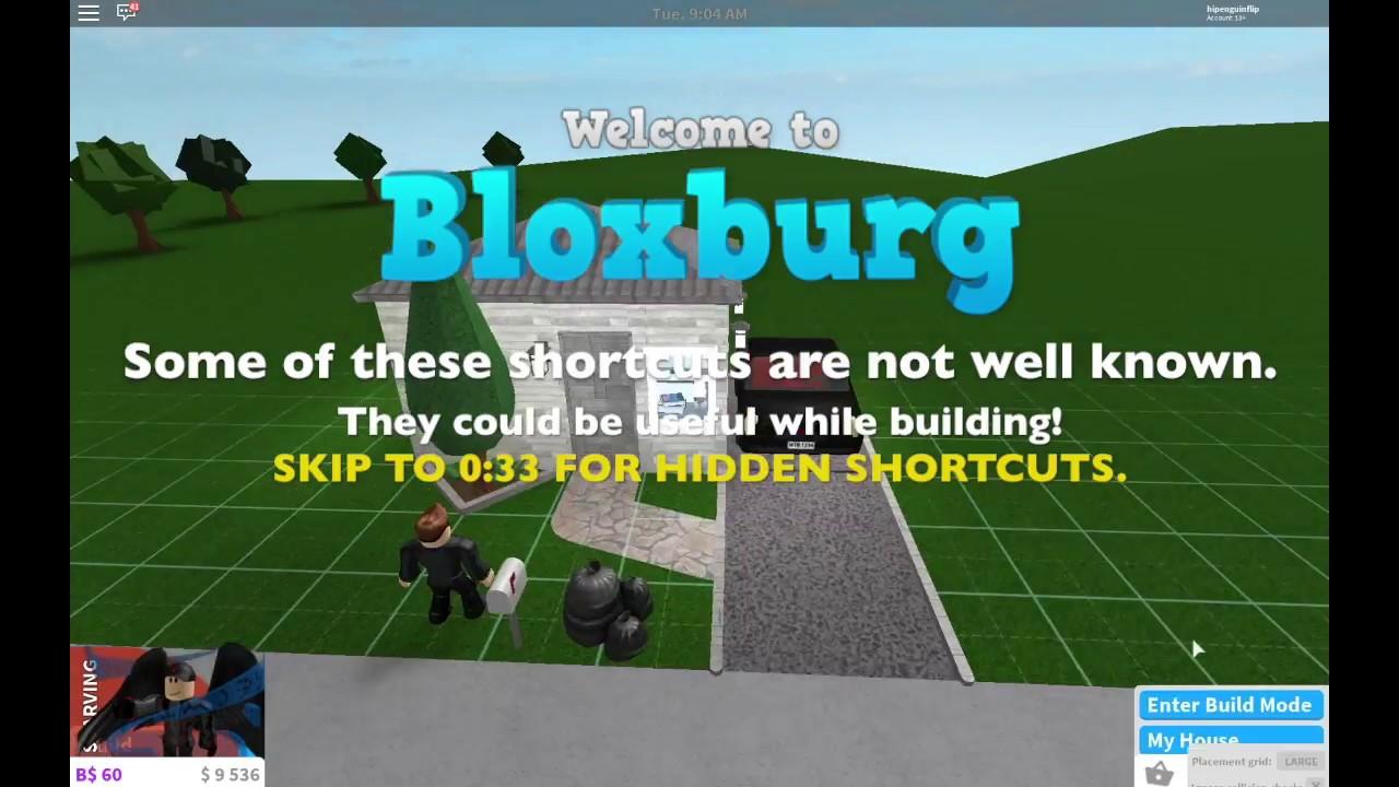 All Known Hidden Bloxburg Build Shortcuts Welcome To Bloxburg