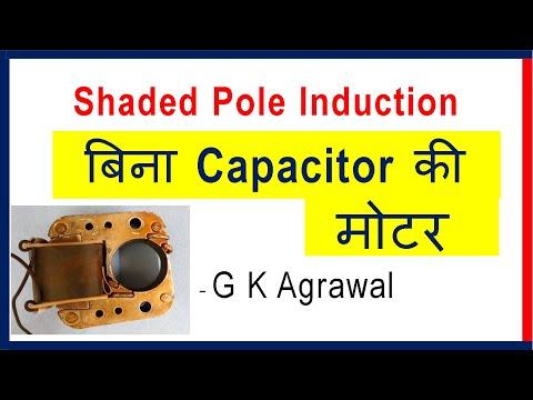 Shaded pole induction motor in Hindi - Capacitor less motor