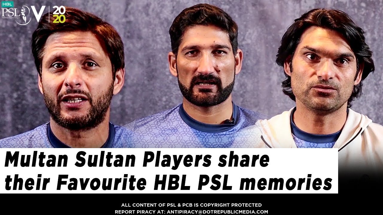 Multan Sultan Players share their Favourite HBL PSL Memories | HBL PSL 2020