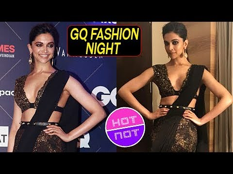Padmavati Deepika Padukone In Black Saree At  GQ Fashion Night | Hot Or Not