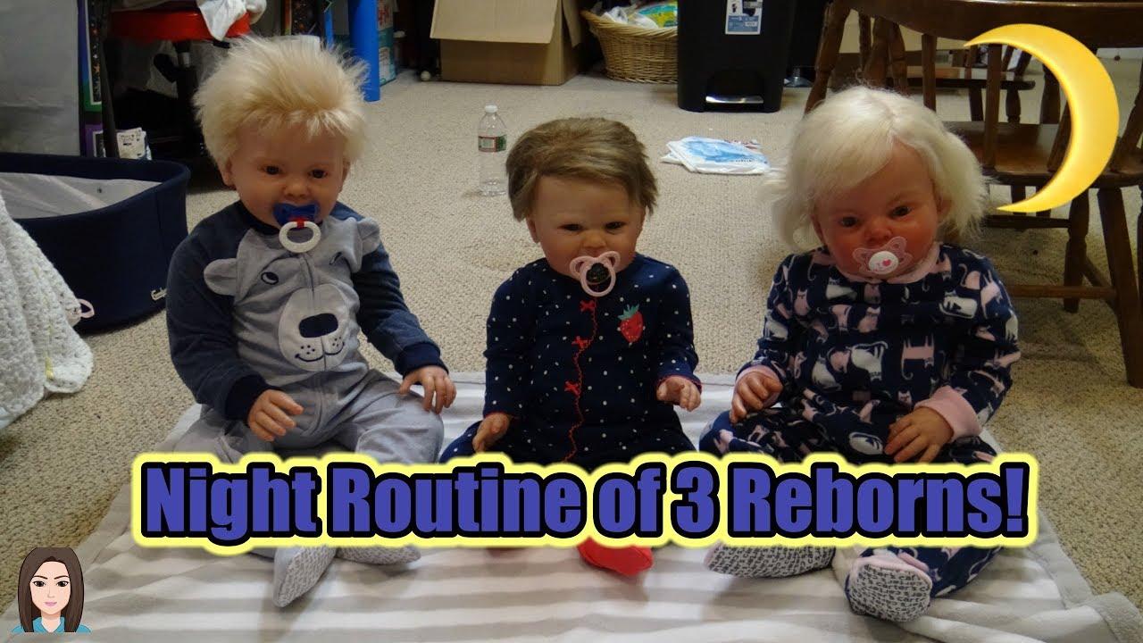 night routine of reborn toddler twins baby kelli maple