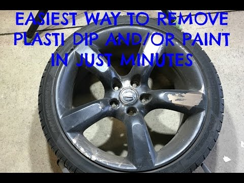 HOW TO Remove Plasti-dip AND Paint from your wheels in JUST MINUTES?!?!